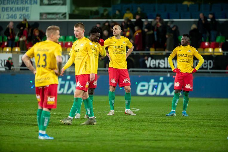Spelers van KV Oostende.