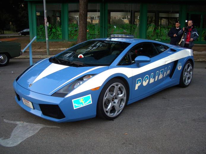 De Italiaanse politie komt met een Lamborghini  Huracán naar Vlissingen. Op deze foto staat een Gallardo, die in 2016 was te bewonderen.