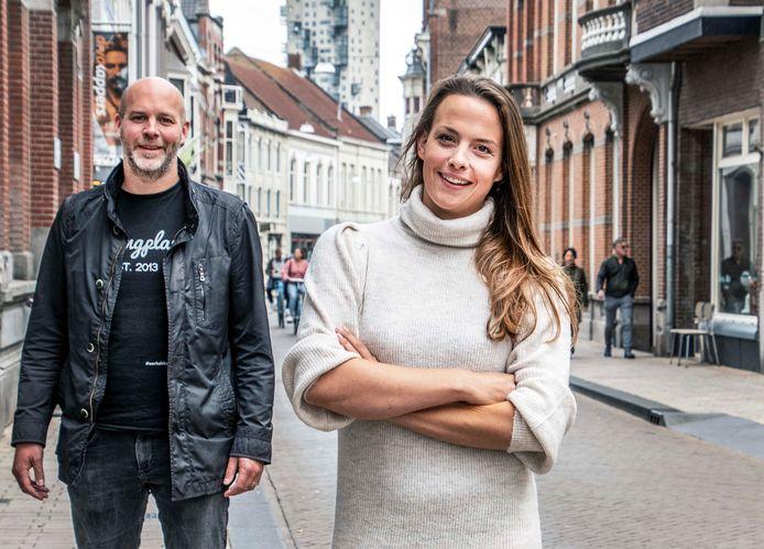 Oprichter Thijs Eradus en Jeske van Hattum van Springplank013.
