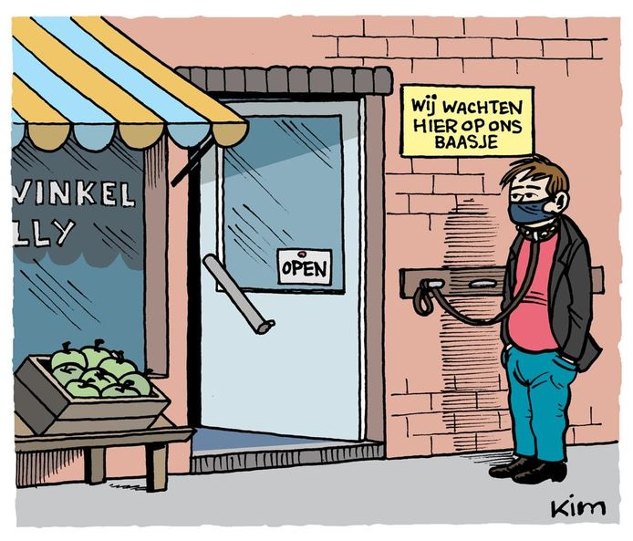 De cartoons van Kim Duchateau leggen het probleem pijnlijk bloot.