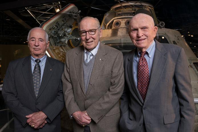 De bemanning van de Apollo 8 nu:  William Anders, James Lovell en Frank Borman.
