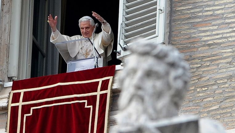 Paus Benedictus Beeld afp