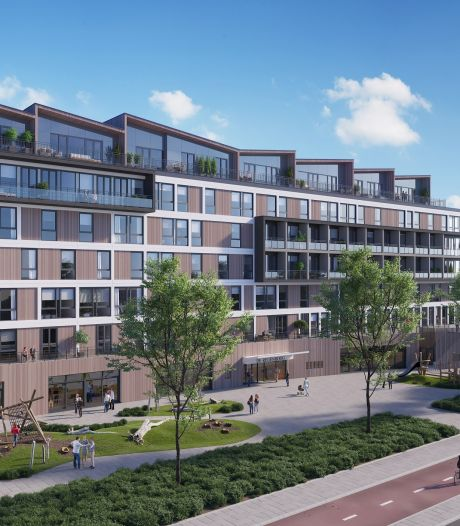 De bouw van 58 appartementen in het oude regiokantoor start al snel
