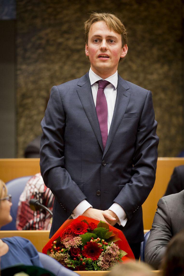PvdA'er Henk Nijboer tijdens zijn inhuldiging als Kamerlid Beeld null