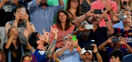 Messi zorgt met jubileumtreffer voor foutloze start Barça