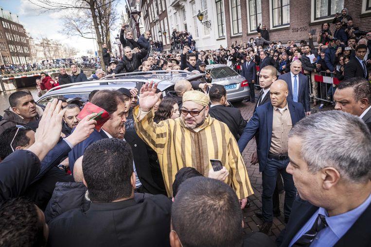 Koning Mohammed VI van Marokko verlaat Nederland na een meerdaags bezoek. Beeld ANP