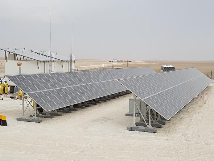 Een project van TSS4U in de woestijn in de Verenigde Arabische Emiraten.