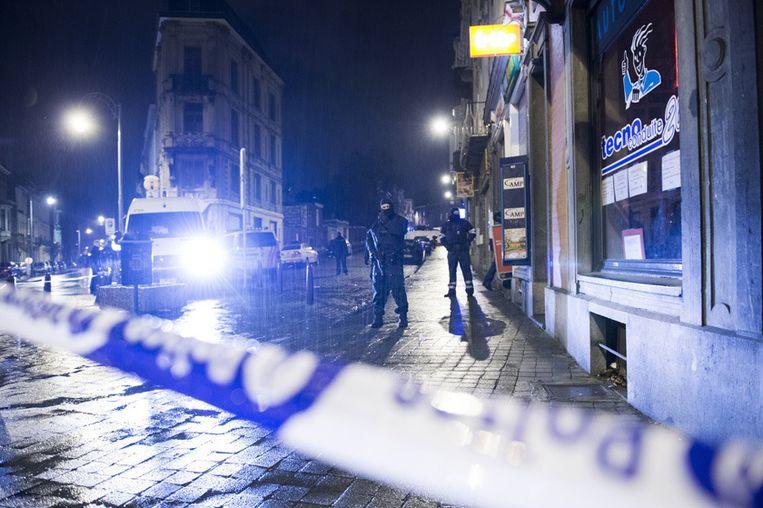 Beeld van de politieactie tegen de terreurcel in Verviers in januari 2015.