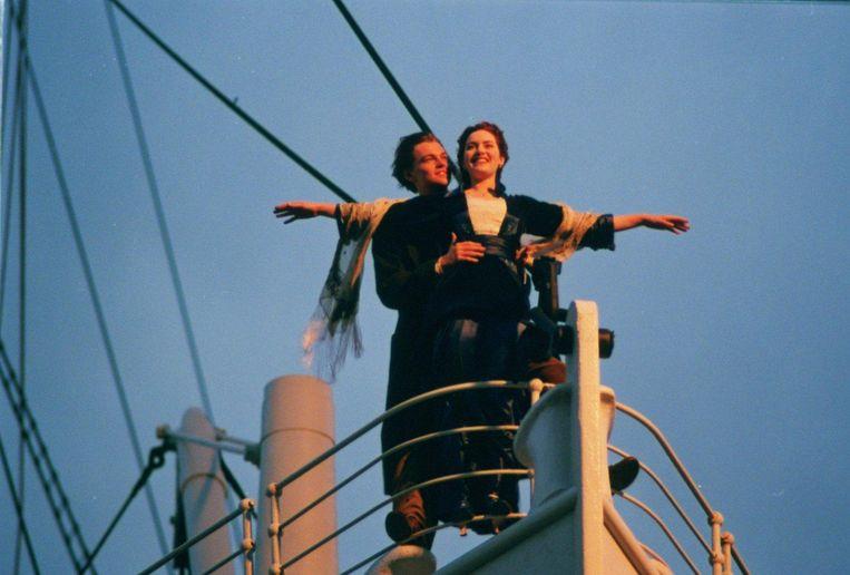 Jack en Kate in Titanic. Beeld