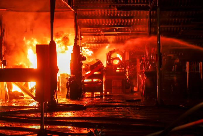 De brand aan de Kromstraat in Valkenswaard.
