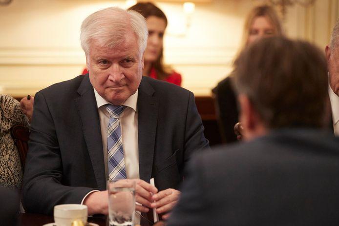 De Duitse minister van Binnenlandse Zaken Horst Seehofer.