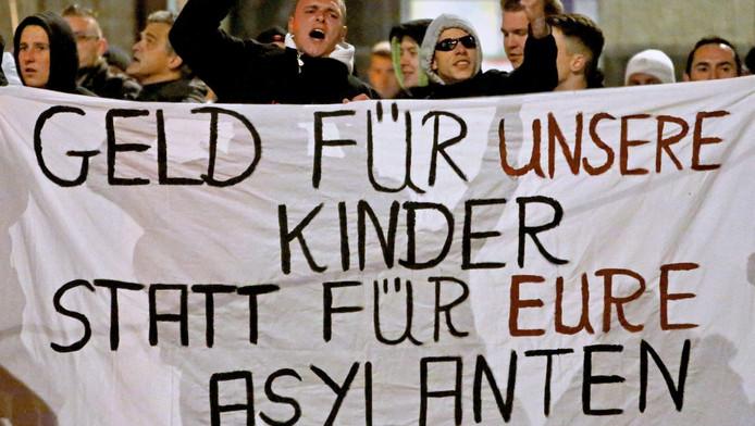 In Dresden is veel verzet tegen vluchtelingen.