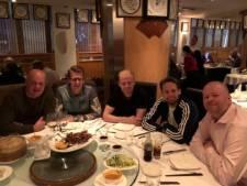 Verjaardagsetentje Barney met Blind, Klaassen en Van Gerwen