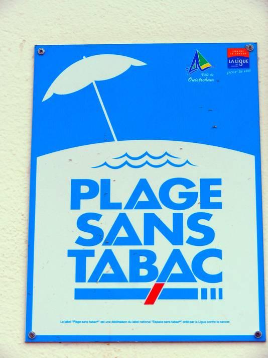 rookvrije stranden in Frankrijk. FOTO: Frank Renout