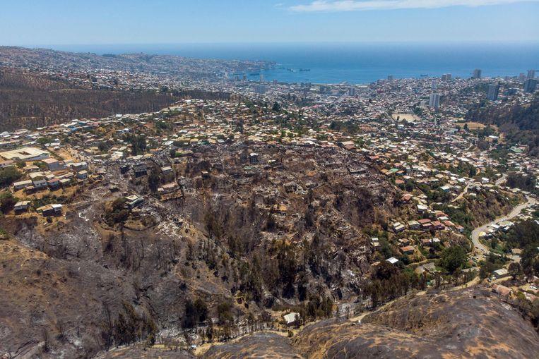 150 hectare en 245 huizen zijn geheel of gedeeltelijk verwoest.