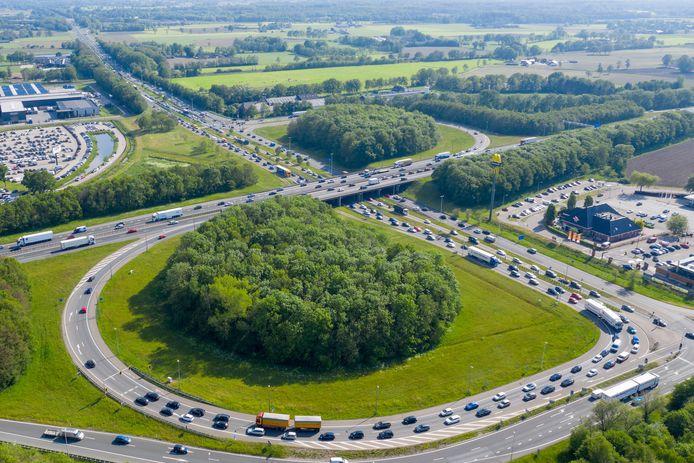 Knooppunt A1 en A30 bij Barneveld