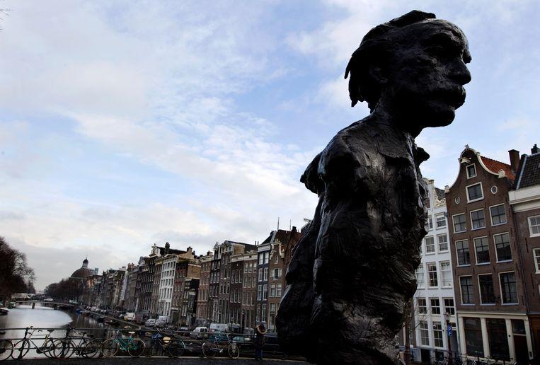 De buste van Multatuli in Amsterdam. Beeld ANP