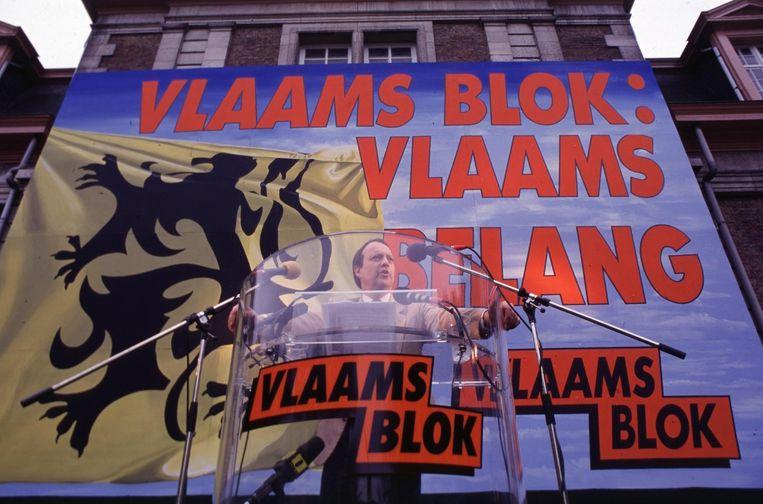 Vlaams Blok op een manifestatie in 1998.