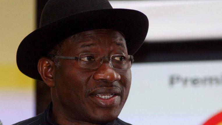 De Nigeriaanse president Goodluck Jonathan. Beeld ap
