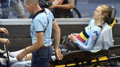 """D'hoore na ploegkoers in Glasgow afgevoerd naar het ziekenhuis met hitteslag: """"Ze kreeg het plots moeilijk"""""""