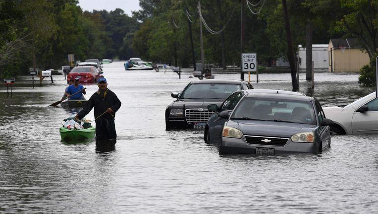 De gevolgen van orkaan Harvey. Beeld afp