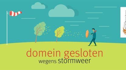 Provinciaal Domein De Gavers zondag gesloten wegens aangekondigd stormweer