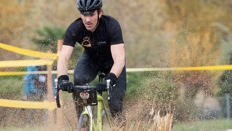 Fabian Cancellara tijdens een cyclocross begin november. Beeld epa
