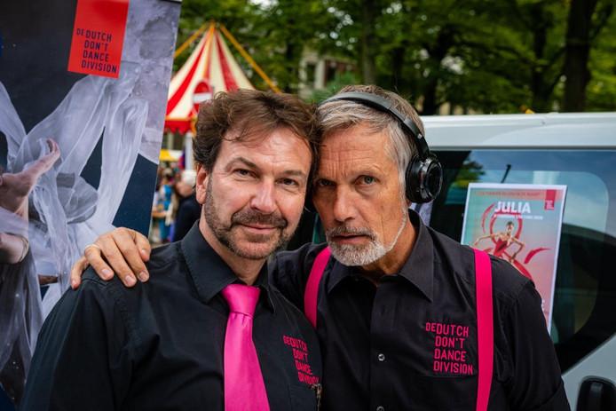 Artistiek leiders Thom Stuart (links) en Rinus Sprong.