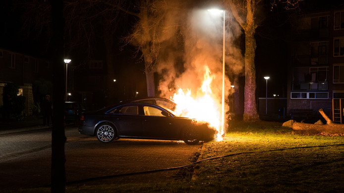 Autobrand in Deventer