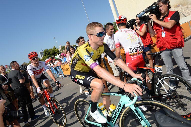 Steven Kruijswijk moest zondag passen in de etappe van Benidorm naar Calpe. Beeld BSR Agency