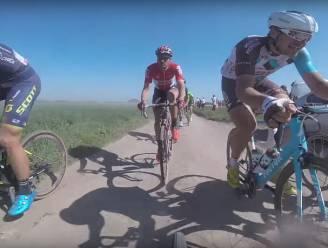 Valpartijen, lekke banden en dokkeren over kasseien: (her)beleef bewogen Parijs-Roubaix vanuit buik peloton