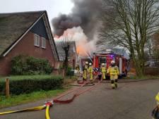 Uitslaande brand bij bouwbedrijf in De Heurne