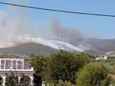 Dorpen op Zakynthos ontruimd om natuurbrand