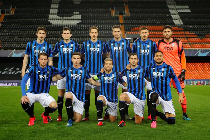Het Atalanta-elftal voor de wedstrijd tegen Valencia.