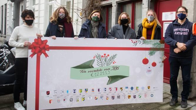 Studentenclubs UAntwerpen schenken cheque van 12.000 euro aan TEJO