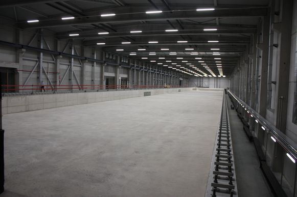 De nieuwe sleeptank in Oostende is 174 meter lang en 20 meter breed.