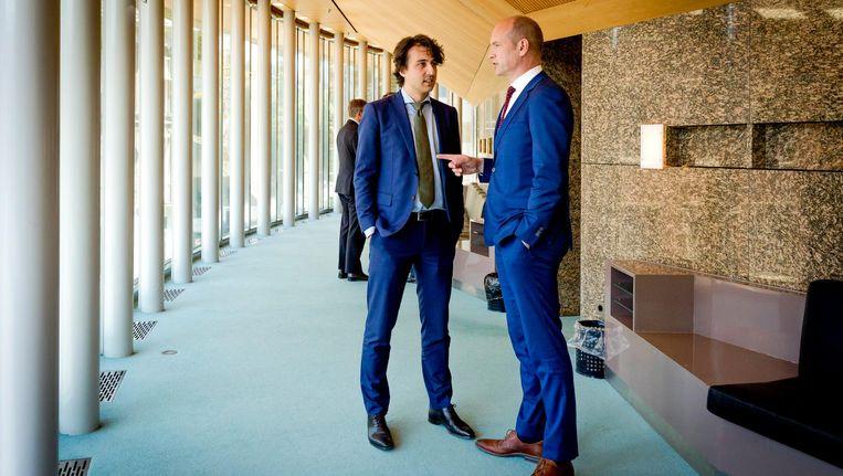 Jesse Klaver in gesprek met Gert-Jan Segers. Beeld anp