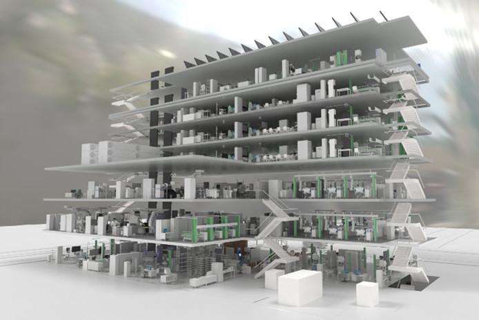 Impressie van het nieuwe ziekenhuis dat Philips gaat bouwen in de hoofdstad van Ethiopië.