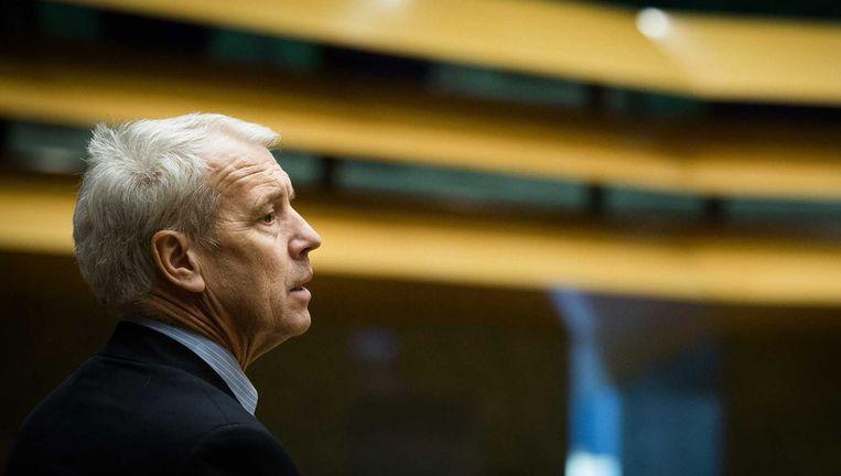 Johan Houwers vormt de zestiende fractie in de Kamer. Hij neemt de plaats in van de VVD'er Mark Verheijen die recentelijk opstapte vanwege dubbele declaraties. Beeld anp