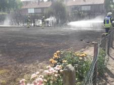 Duitse brandweer helpt brand blussen in Dinxperlo