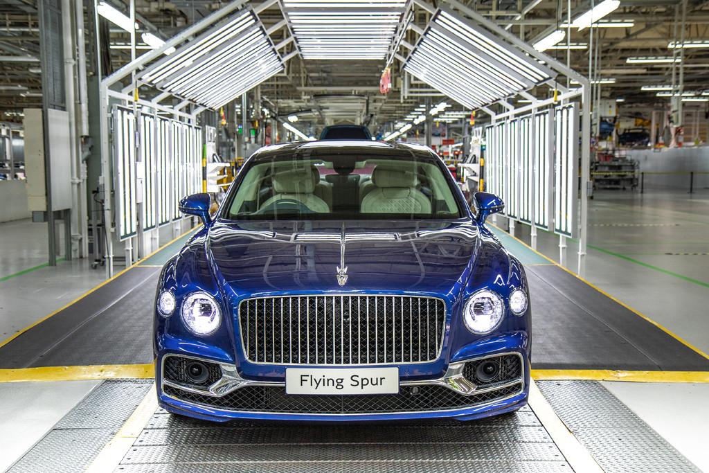 De Bentley-fabriek in Crewe in Engeland