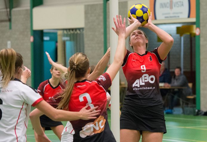 Topklasser Spes uit Milsbeek in actie eerder dit seizoen.