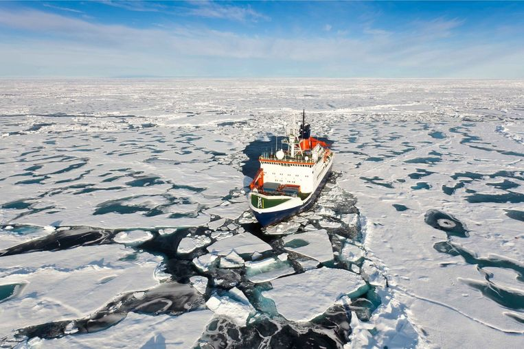Noordpoolexpeditie van het Alfred Wegener Institute of Polar and Marine Research, uit 2011 Beeld anp