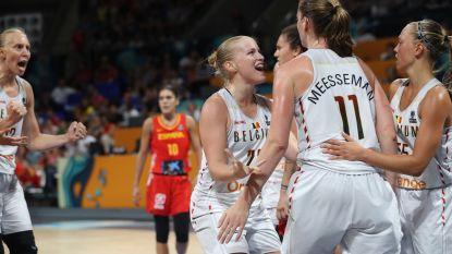 """Zo groot was de vreugde in kleedkamer van de Belgian Cats: """"Historisch voor het Belgische basket"""""""