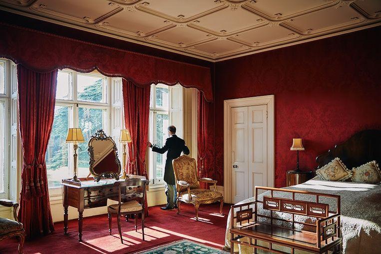 Een van de slaapkamers in Highclere Castle. Beeld Airbnb