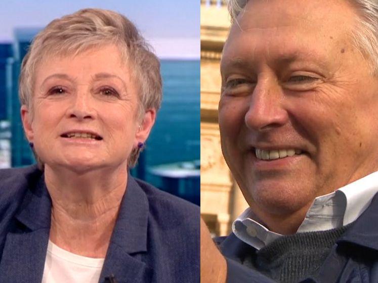 Martine Tanghe wenst Dany Verstraeten gelukkige 65ste verjaardag