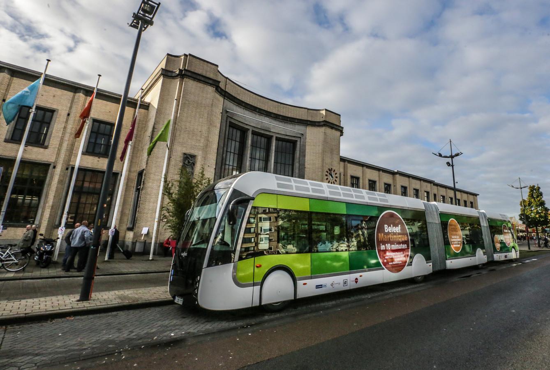 Er was in 2015 al een proefproject met trambussen.