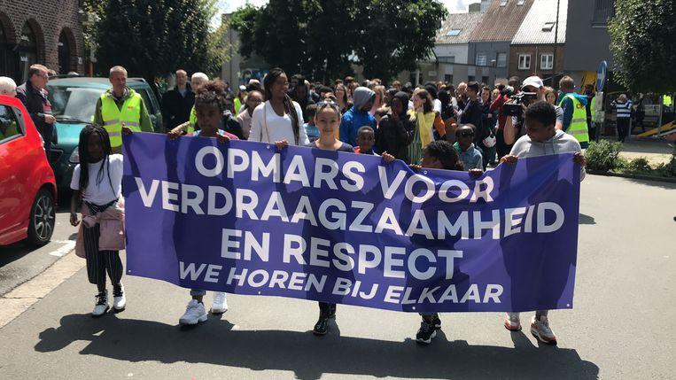 Mars tegen racisme Aalst.