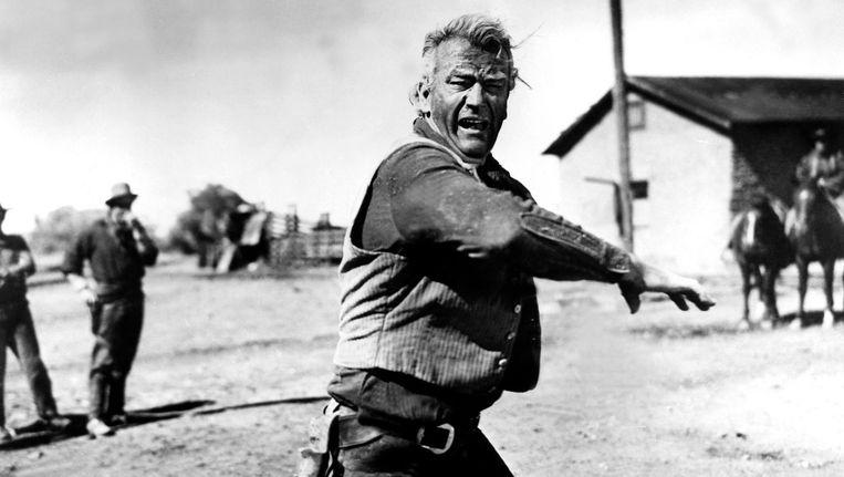 John Wayne in Red River. Beeld