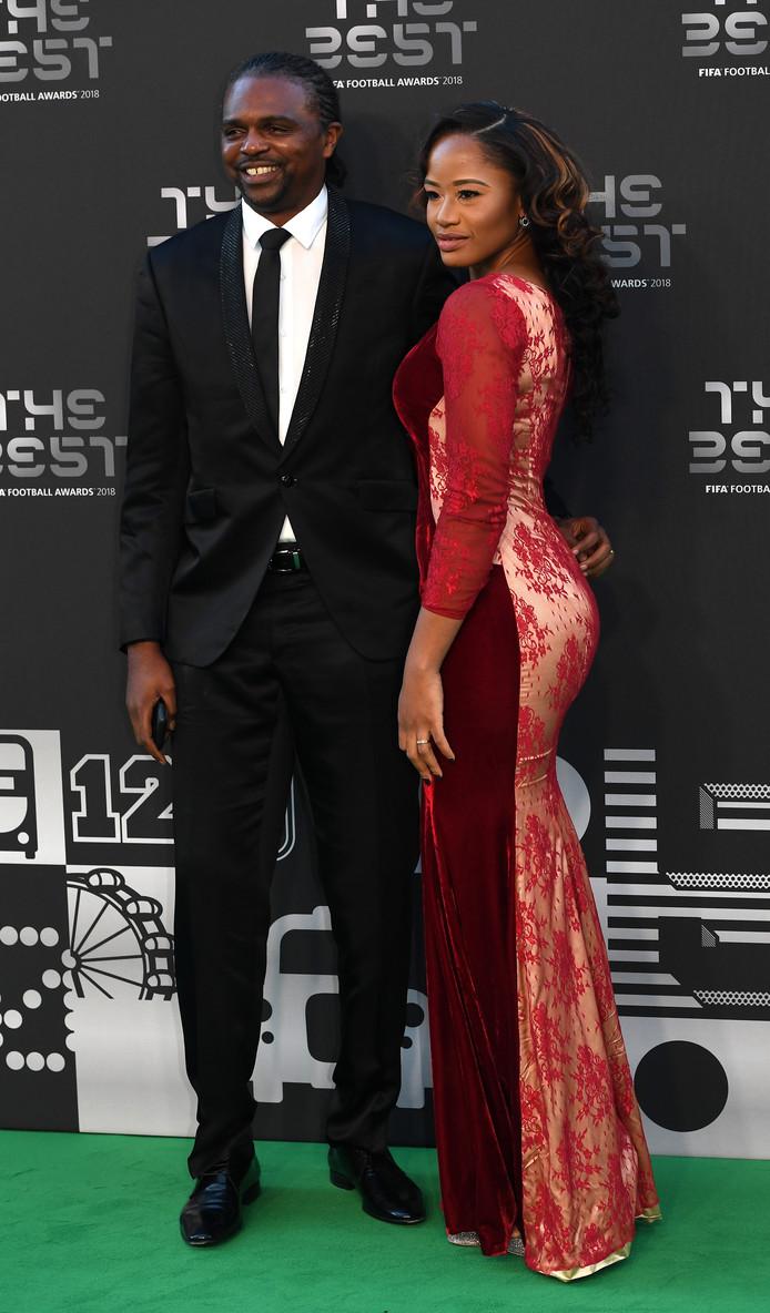 Nwankwo Kanu en zijn vrouw Amarachi Kanu.